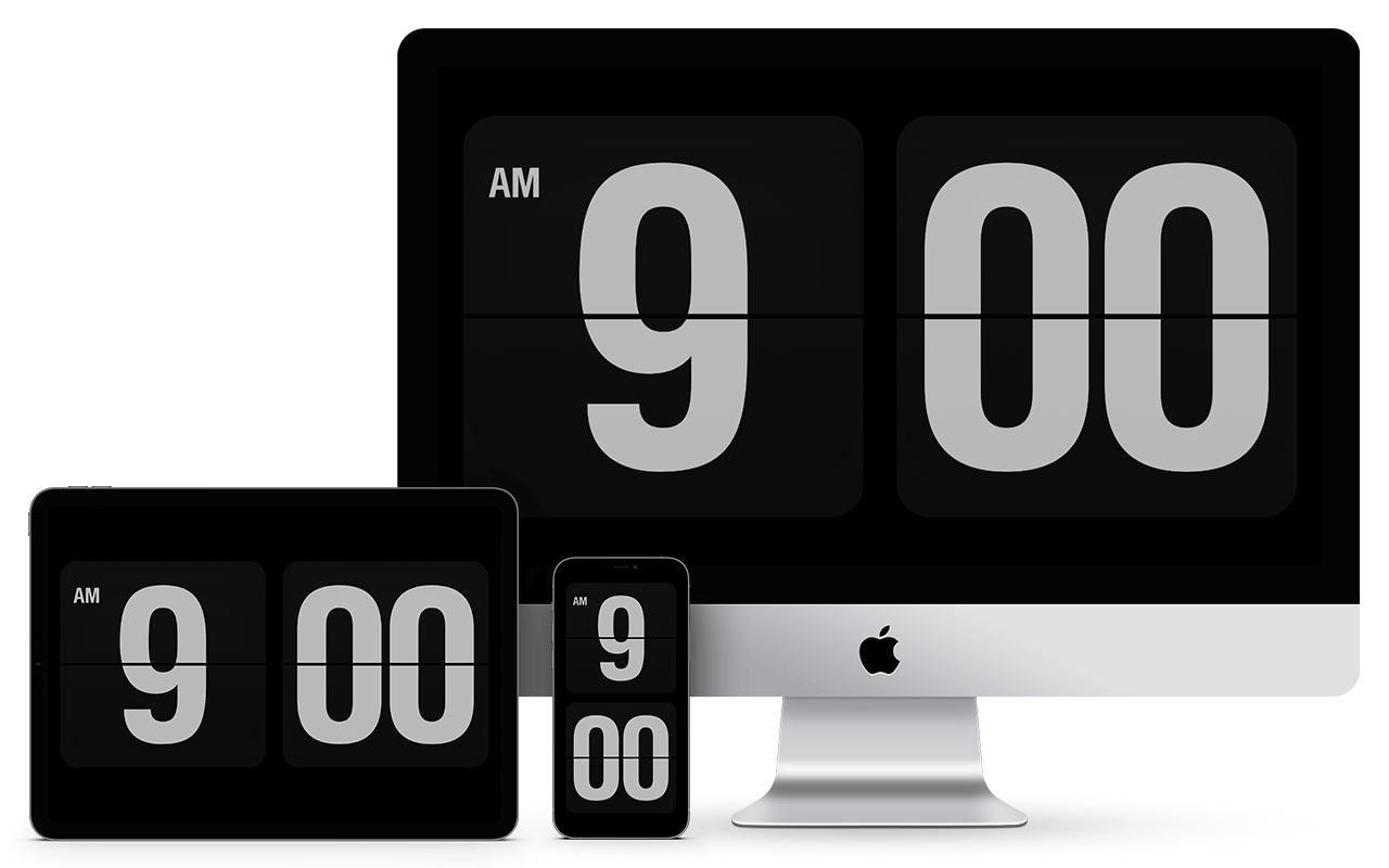 Fliqlo Flip Clock App And Screensaver